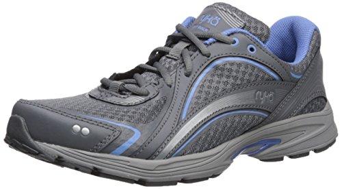 RYKA SKY WALK Walking Shoe, Slate Grey/Chrome Silver/Robin Blue, 11 M US