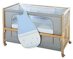 roba Roombed, Babybett 60x120 cm 'Schnuffel', Beistellbett zum Elternbett mit kompletter Ausstattung