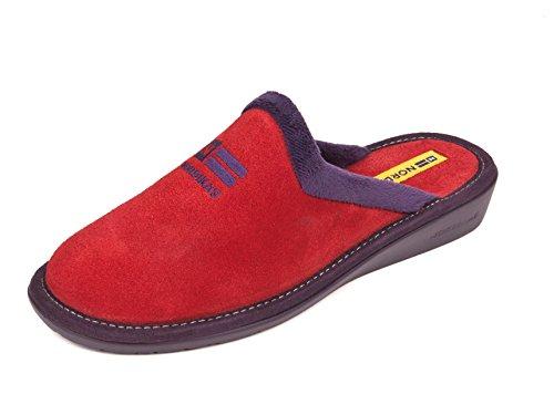 Zapatillas de casa en Ante Rojo (42)