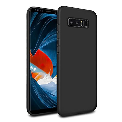 MC WHLZD für Samsung Galaxy Note 8 Hülle, Mattierte Anti-Fingerabdrücke TPU Schutzhülle, Ultra Dünne Handyhülle Kompatibel mit Samsung Galaxy Note 8, Schwarz