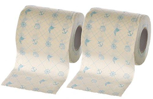 Yachticon Toilettenpapier bedruckt - 2 Rollen Nautic Design