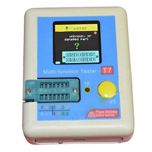 Hotalluyt Transistor Tester Diode Triode Kapazität Inductor Meter LCR ESR NPN PNP IR Multifunktions-Tester LCR-T7