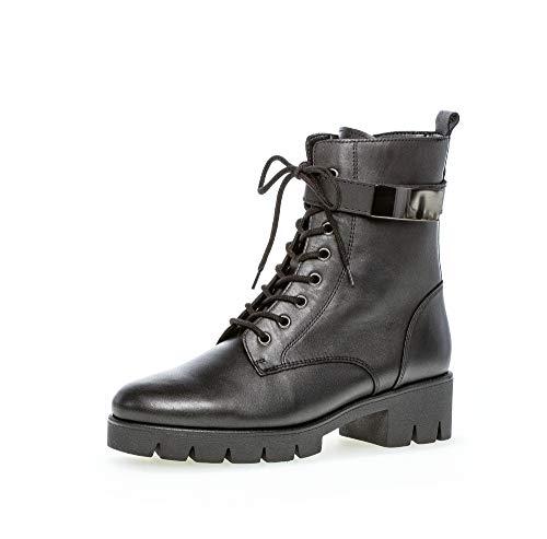 Gabor Damen Stiefeletten, Frauen Biker Boots,Best Fitting,ECHTES Lammfell,Reißverschluss,Optifit- Wechselfußbett, weiblich,schwarz,38 EU / 5 UK