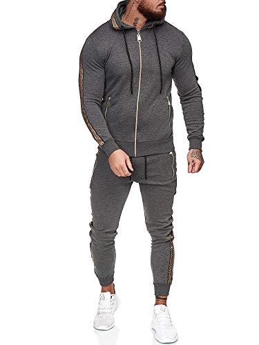 OneRedox | Herren Trainingsanzug | Jogginganzug | Sportanzug | Jogging Anzug | Hoodie-Sporthose | Jogging-Anzug | Trainings-Anzug | Jogging-Hose | Modell JG-1424 Antrazit M