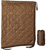 USGI Industries Military Woobie Blanket - Thermal Insulated Camping Blanket, Poncho Liner – Large, Portable, Water-Resistant, for Hiking, Outdoor, Survival, Comes with Compression Carry Bag (Coyote)