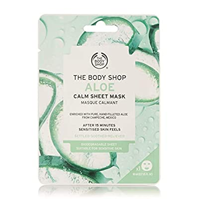 The Body Shop Aloe Calm Hydration Sheet Mask - Soothe and hydrate dry, sensitive skin in just 15 minutes with our vegan Aloe Calm Sheet Mask