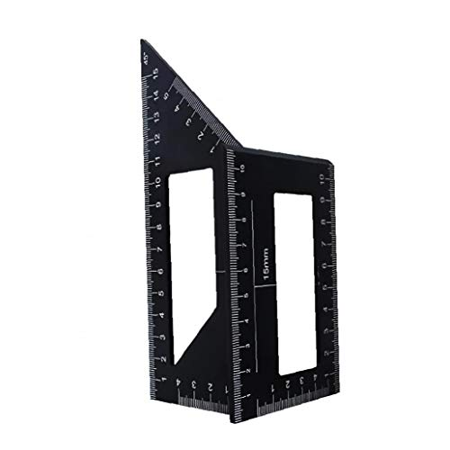 MICHAELA BLAKE Holzbearbeitungs Measure Ruler Carpenter Platz Winkel Lineal-Werkzeug für Ingenieure Tischler