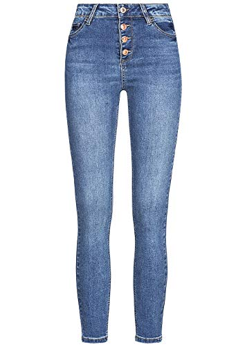 Hailys Damen Jeans Romina blau M (32-33)