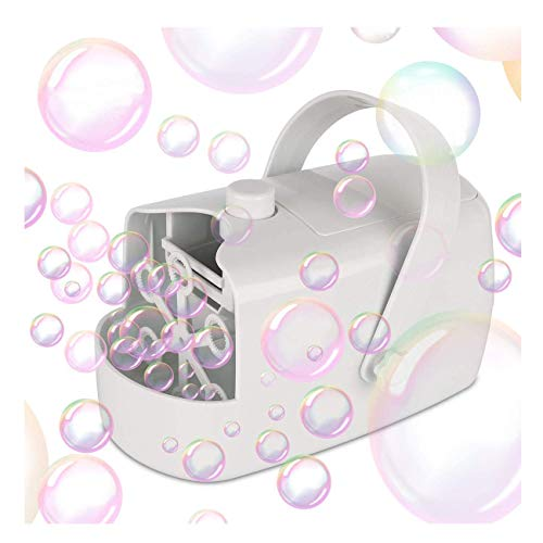 ZSM Bubble Machine, Portable Automatic blower Bubble, Powered by Electric or battery jack, Two Speeds, for Party, Wedding, Birthday and Garden Festival, Large Production YMIK