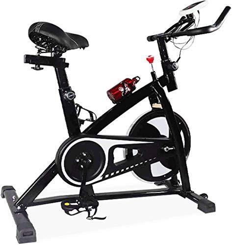 Bicicleta estática estática para interiores con monitor LCD para entrenamiento en casa con cómodo cojín de asiento de freno electromagnético