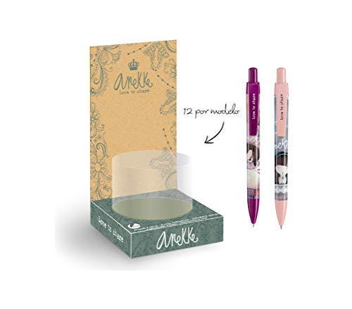 Anekke Expositor 24 bolígrafos Ballerina y Moon