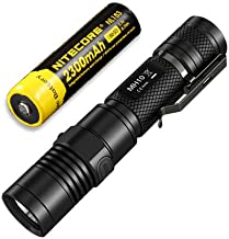 Nitecore MH10 USB Rechargeable Flashlight CREE XM-L2 U2 Portable Torch Waterproof Compact Searchlight with NL183 2300mAh 1...