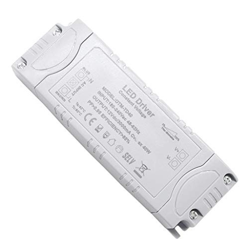 VARICART IP44 12V 3.33A 40W TRIAC Dimmerabile LED Driver, Alimentatore di Commutazione AC DC Universale, Adattatore Trasformatore Tensione Costante per Luci di striscia G4 MR11 MR16 (Confezione da 1)