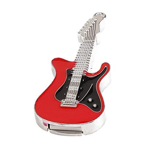 Gysad 2GB/4GB/8GB/16GB/32GB USB-Speicher-Stick,E-Gitarren-Stil,einfach zu bedienen, schnell und effizient,Rot