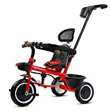 XY Trikes Three-in-one Push Tricycle Wheel Anti-pinch Pusher With Cup Holder Adjustable Front And Rear Baskets...