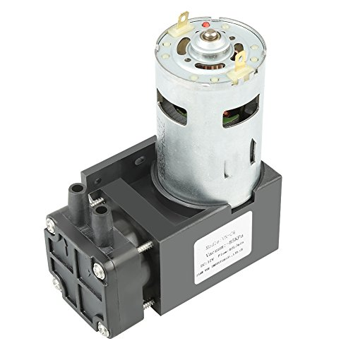 Mini Ölfreie Vacuum Pump, DC 12V Technical Plastic Pump, Micro Vacuum Pump, Oilless Vacuum Pump für Vakuum Verpackung Maschine, Medizin, Probenahme Analyse