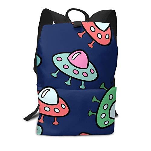 Homebe Space Ship UFO Color Cute Rucksäcke,Daypack,Schulrucksack Für Jungen und Mädchen School Travel Hiking Small Gym Teen Little Girls Youth Boy Women Men Kids Backpack Mini Book Back Bag Bookbag