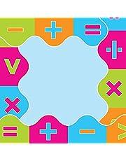 Sona Edons Decorative Borders for Bulletin Board, Black Board, Windows Multicolour-Maths Border(Set of 6)