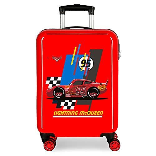 Disney Cars Lightning Mcqueen Maleta de cabina Rojo 37x55x20 cms Rígida ABS Cierre combinación 34L 2,6Kgs 4 Ruedas Dobles Equipaje de Mano