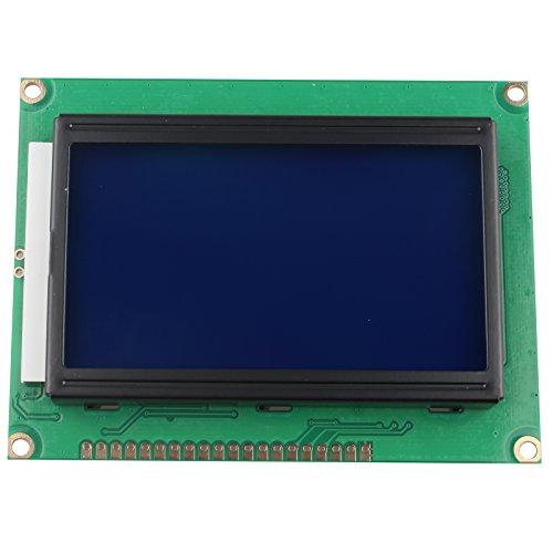 HALJIA 5 V módulo de Pantalla LCD 12864 128 x 64 Puntos Gráfico Matriz de Personajes Carta retroiluminación Azul Compatible con Arduino fotocopiadoras máquinas de fax impresoras láser Impresora 3D