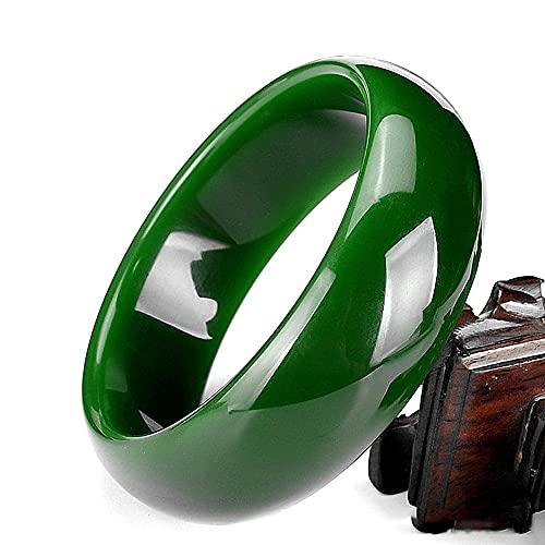 QVQV Pulsera De Jade Verde CláSico Chino Natural JoyeríA Redonda De Estilo De Moda Regalo De Madre Amor Trae Buena Suerte Y Paz
