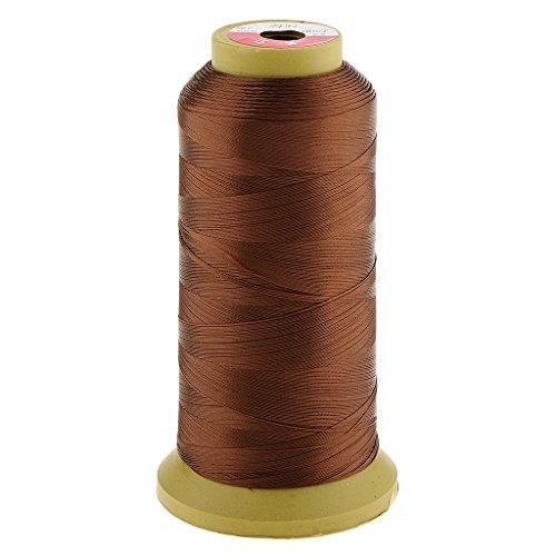 MagiDeal Fil de Couture de Cheveux de Tissage/Tressage Perruque/Weaving Bangs pour Extension de Cheveux Décor Wig - en Nylon 150D - 0.2mm - Marron clair