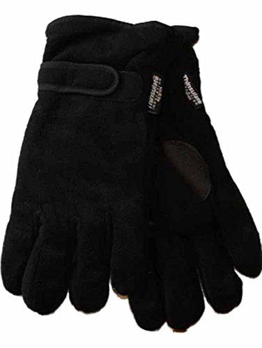 Socks Uwear superwarme Wollhandschuhe mit Thermo-Thinsulate-Futter für Herren Groß Schwarz