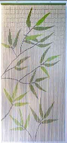 EVIDECO 650 5500650 Bamboo Leaves Design Beaded Curtain Doorway 90 Strings