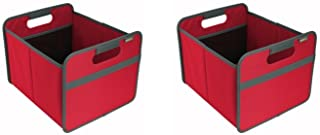 meori Classic Collection Medium, 14.6 x 12.6 x 10.8, in Hibiscus Red to Organize and Carry Up to 65lbs-Pack of 2 Foldable Storage Box, 2-Pack
