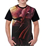 fenrris65 Hellsing Ultimate Mens Cosplay 3D Printed Anime Cartoon Short Sleeve T-Shirts L