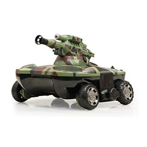 RC 2.4G All-Terreno Tanque Variable Anfibio Tanque de Cuatro Ruedas con Control Remoto de Carretera Lanzamiento de automóviles Spray de Agua Tres-UNO Boy Toy (Model : 1)
