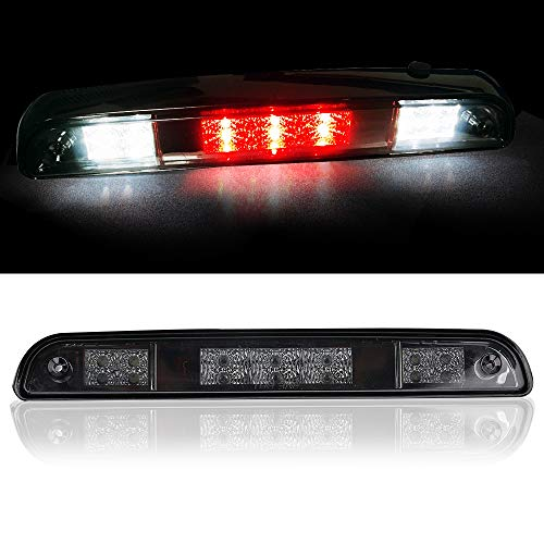 Smoked LED 3rd / Third Brake Light Compatible with 1992 1993 1994 1995 1996 1997 Ford F150 F250 F350 Bronco - High Mount Stop Light Waterproof Cargo Lamp with Gasket