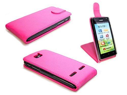 caseroxx Flip Cover für Huawei Ascend G610, Tasche (Flip Cover in pink)