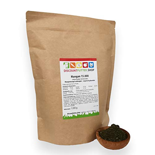 discountfutter.shop Mangan 15.000 - organisch gebunden - 1 kg für Pferde