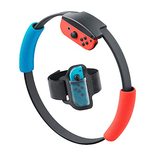 Accessories Kit for Nintendo Switch Ring Fit Adventure, 1 Switch Leg Strap and 2 Ring-Con Grips