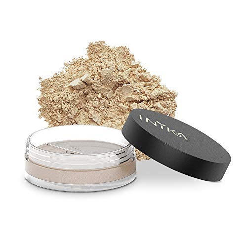 INIKA Loose Mineral Foundation Powder SPF25 All Natural Make-Up Base, Concealer, Flawless Coverage, Water Resistant, Hypoallergenic, Halal, 8g (0.28 oz) (Grace)