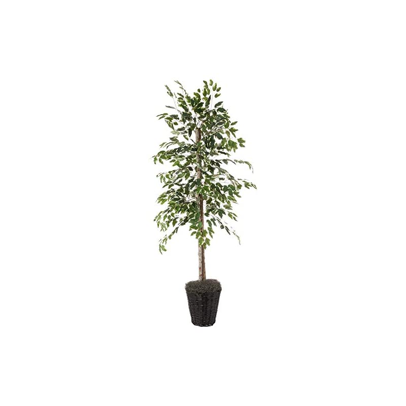 silk flower arrangements vickerman 6-feet artificial variegated ficus economy tree in decorative container
