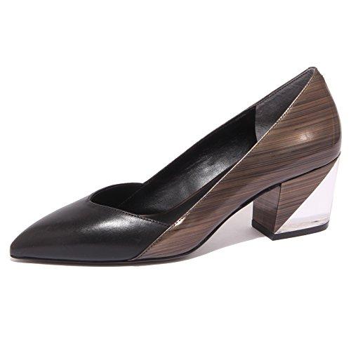 What For 8784P Decollete Nero/Bronzo Scarpa Donna Shoe Woman [36.5]
