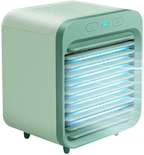B-UK Aire Acondicionado Portátil Mini, Refrigerador de Aire portátil 3 en 1 Función de Aire Acondicionado Recargable refrigerado por Agua para Uso doméstico en Interiores de Verano