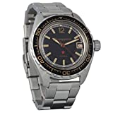 Vostok Komandirskie automático 24 horas Dial ruso militar reloj de pulsera WR 200m (02074...
