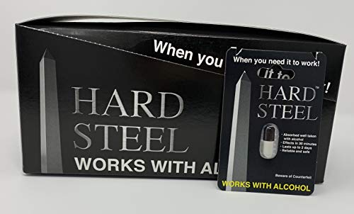 Hard Steel Authentic Male Enhancement Sex Pill (24 Count Box)