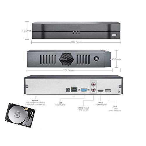 POLICETECH NVR 16 CH CANALI Cloud Ibrido Full HD 8MPX 3G WiFi ONVIF VIDEOSORVEGLIANZA HD 320 GB