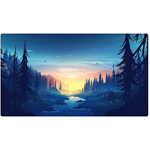 Beymemat Large Gaming Mouse Pad XXL Size (900x400mm) Extended Mouse Mat/Desk Pad with Non-Slip Rubber Base, Special-Textured Surface for Keyboard and Mouse