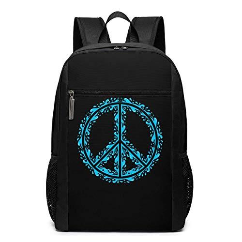 ZYWL Peace Laptop Backpack 17-Inch Travel Backpack Bookbag Bussiness Bag