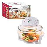 Quest 43890 Halogen Oven Low Fat Fryer Glass Housing,12L, 1400 Watt, White, 1300 W