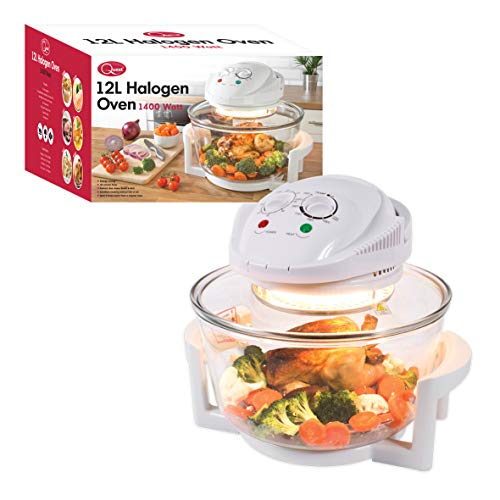 Quest 43890 Halogen Oven Low Fat Fryer Glass Housing,12L, 1400 Watt, White,...