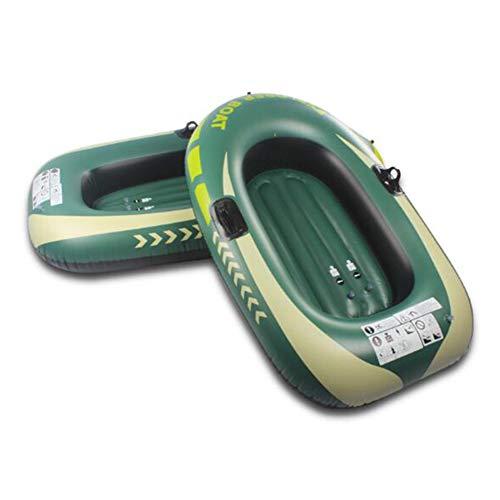 YANXS Barca Hinchable, Lancha Bote Inflable para Niños, Grande 188 * 114CM - Fácil de Inflar y Desinflar, PVC de Alta Resistencia Playa Piscina Juguete Verano,Verde,B:188 * 114CM