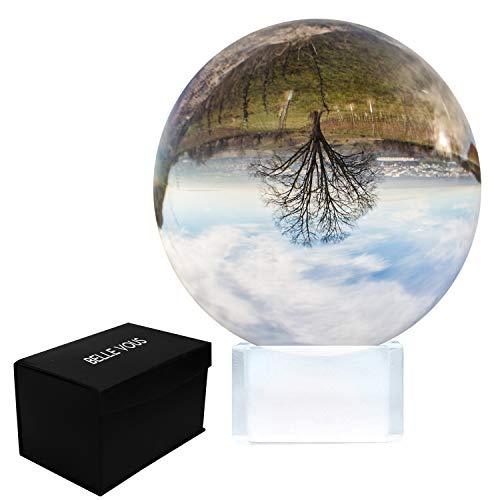 Kristallen Bal 100mm - Fotografie Bal met Standaard en Doos – K9 Helder Kristallen Bal Voor Meditatie & Genezing – Kristallen Lensbal Voor Fotografie – Helder Glazen Bal Voor Decoratie Thuis en Feest