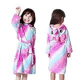 Winter Kinder Robe Für Mädchen Pyjamas Tier Kapuze Kinder Bademantel Jungen Nachtwäsche Kinder Morgenkleid Baby Nachthemden-pink star-6-5
