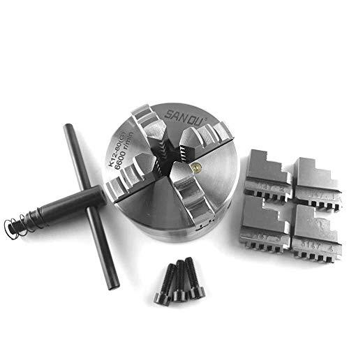 W-SHTAO L-WSWS Cuatro mandíbula Chuck Autocentrante for el Torno mecánico for perforación fresadora de Bricolaje Mini Piezas de Acero endurecido K12-80 Accesorios de Torno